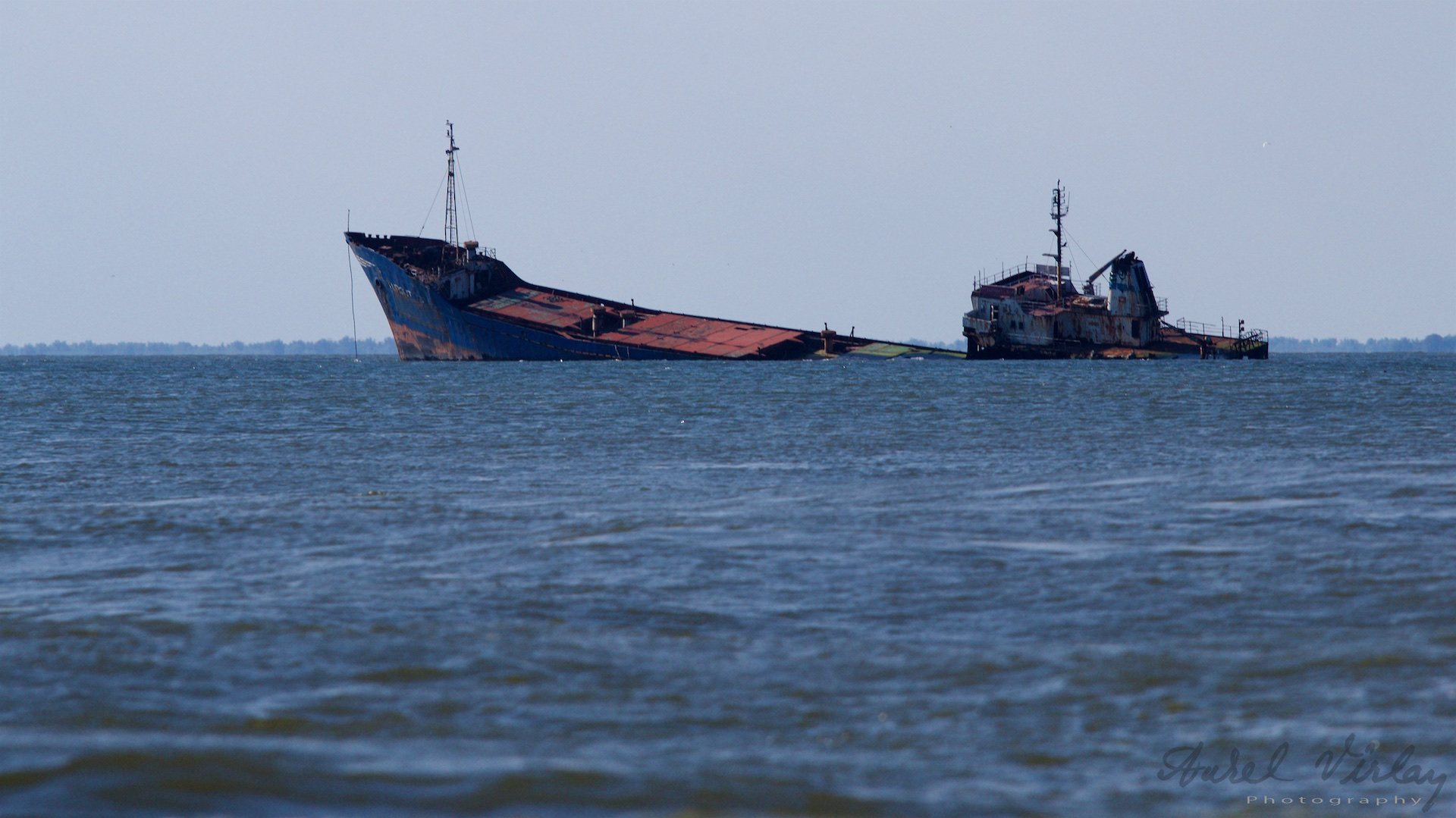 Any photographer wishes to capture the wreck at the entrance to the Danube Delta.