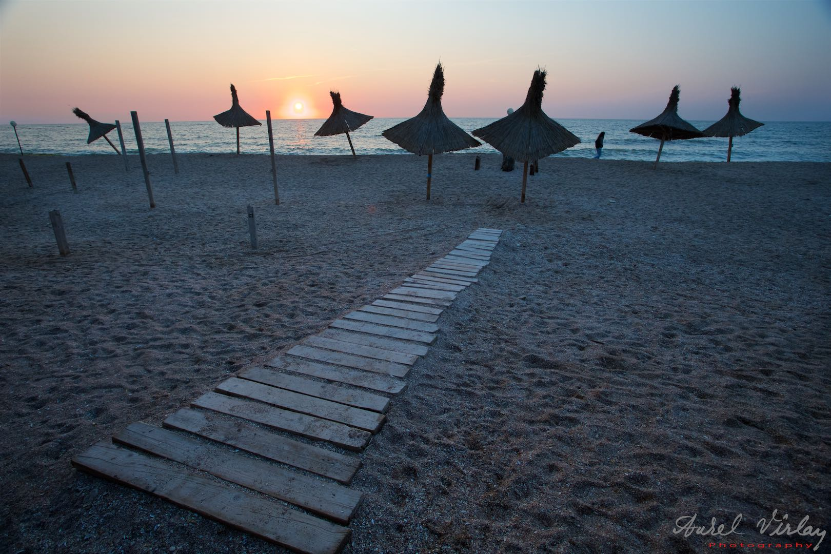 Stairs to Sun. Landscape photography at *Beach of Book* Vama Veche.