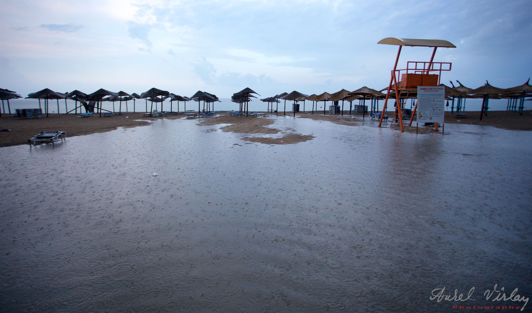Water on the beach, Black Sea beyond the umbrellas. Just choose!