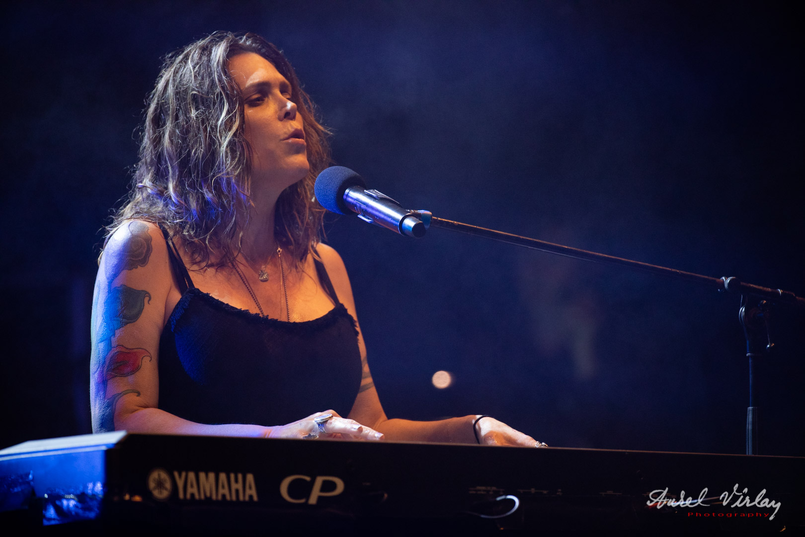 Beth Hart in live concert at Open Air Blues Festival.